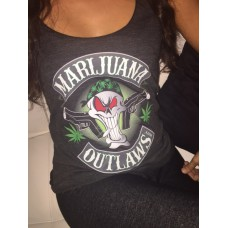 Marijuana Outlaws Women's Racerback Tank Top